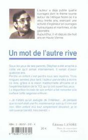 Mot De L'Autre Rive (Un) - 4ème de couverture - Format classique
