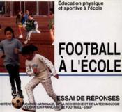 Football à l'école - Couverture - Format classique