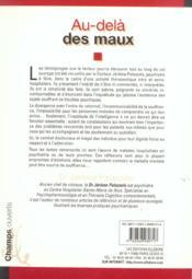 Au-Dela Des Maux - 4ème de couverture - Format classique