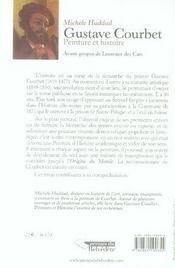 Gustave Courbet, peinture et histoire - 4ème de couverture - Format classique