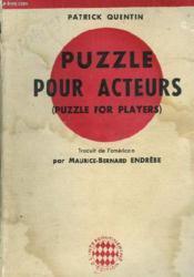 Puzzle Pour Acteurs (Puzzle For Players) - Couverture - Format classique