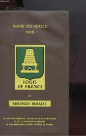 Guides Des Hotels 1978 - Couverture - Format classique