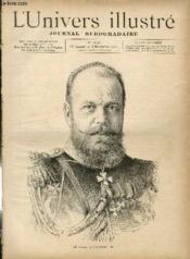 L'UNIVERS ILLUSTRE - TRENTE SEPTIEME ANNEE N° 2067 Le czar Alexandre III - Couverture - Format classique