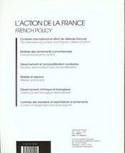 Maitrise des armements ; non proliferation et desarmement ; l'action de la france - 4ème de couverture - Format classique