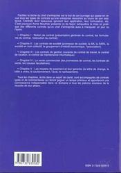 Modeles De Contrat Type De L'Entreprise Pme Pmi - 4ème de couverture - Format classique