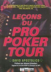 Leçons du pro poker tour - Intérieur - Format classique