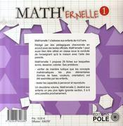 Math'ernelle t.1 - 4ème de couverture - Format classique