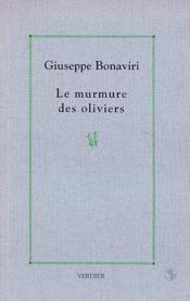 Le Murmure Des Oliviers - Couverture - Format classique