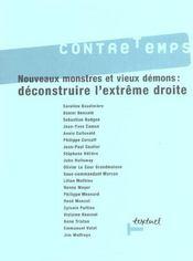 Revue contre-temps t.8 ; nouveaux monstres et vieux démons : déconstruire l'extrême-droite - Intérieur - Format classique