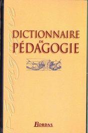 Dictionnaire de pédagogie (2e édition) - Intérieur - Format classique