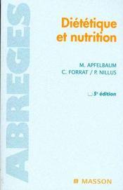 Dietetique et nutrition - Intérieur - Format classique