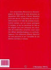 Comment Peut-On Etre Socio-Anthropologue ? Autour D'Henri Hatzfeld - 4ème de couverture - Format classique