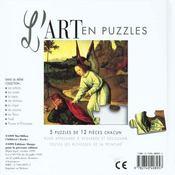 Art En Puzzle Anges - 4ème de couverture - Format classique