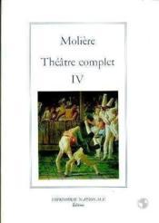 Theatre complet tome iv (broche) - Couverture - Format classique
