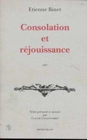 Consolation Et Rejouissance - Couverture - Format classique