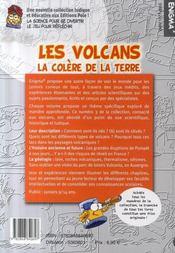 Les volcans ; la colère de la terre - 4ème de couverture - Format classique