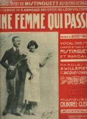 Une Femme Qui Passe - Pour Piano. - Couverture - Format classique