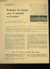 Evolution Des Formes Pour Le Pommier Et Le Poirier - Couverture - Format classique