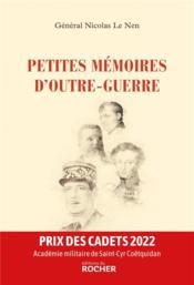 Petites mémoires d'outre-guerre - Couverture - Format classique