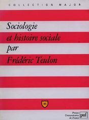 Sociologie et histoire sociale - Intérieur - Format classique