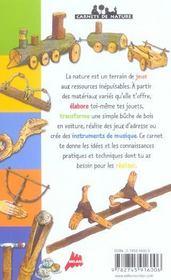 Jouets des bois et des champs n.e. (édition 2004) - 4ème de couverture - Format classique