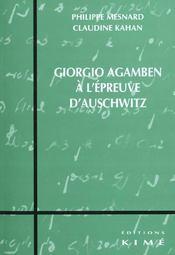 Giorgio agamben a l'epreuve d'auschwitz - Intérieur - Format classique