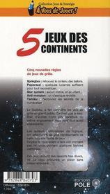 Jeux des 5 continents - 4ème de couverture - Format classique