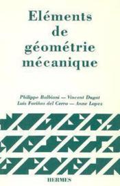 Elements de geometrie mecanique - Couverture - Format classique