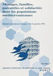 Ménages, familles, parentèles et solidarités dans les populations méditerranéennes - Couverture - Format classique
