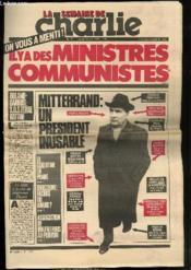 LA SEMAINE DE CHARLIE N° 3 - CHARLIE HEBDO N°550 - Il y a des ministres communistes - Couverture - Format classique