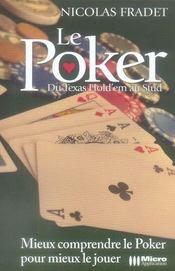 Le poker ; de texas hold'em au stud - Intérieur - Format classique