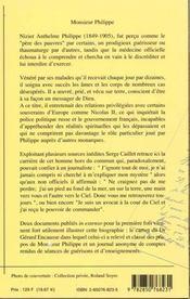 Monsieur philippe / l'ami de dieu - 4ème de couverture - Format classique
