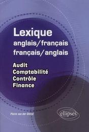 Lexique anglais/français-francais/anglais ; audit, comptabilité, contrôle, finance - Intérieur - Format classique