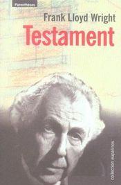 Testament - Intérieur - Format classique