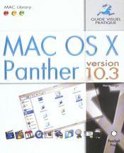 Mac os panther ; guide visuel pratique - Intérieur - Format classique