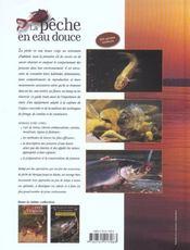 La pêche en eau douce - 4ème de couverture - Format classique