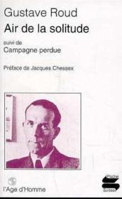 Air De La Solitude : Campagne Perdue - Couverture - Format classique