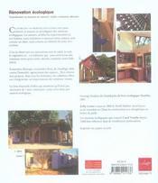 Renovation Ecologique - 4ème de couverture - Format classique