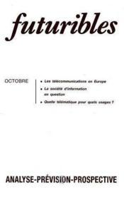 Futuribles No103 Octobre 1986 - Couverture - Format classique