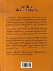 Le livre des 28 chakras - 4ème de couverture - Format classique