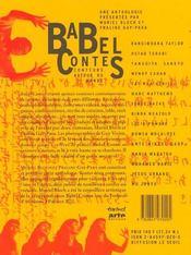 Babel contes ; conteurs autour du monde - 4ème de couverture - Format classique