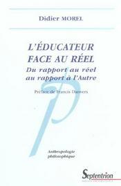 L'educateur face au reel du rapport au reel au rapport a l'autre - Intérieur - Format classique