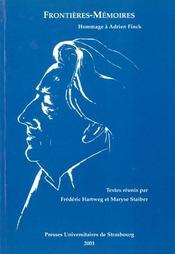 Frontieres-Memoires. Hommage A Adrien Finck - Intérieur - Format classique