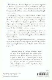 Le dossier Louis XVII ; une affaire de coeurs - 4ème de couverture - Format classique