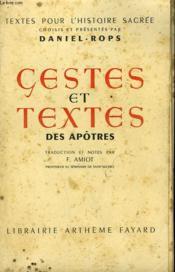 Gestes Et Textes Des Apotres. - Couverture - Format classique