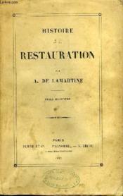 Histoire de la Restauration. TOME VIII - Couverture - Format classique