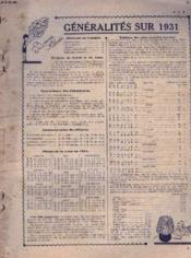 Almanach Du Petit Echo De La Mode 1931. - Couverture - Format classique