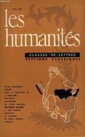 Les Humanites - Classe De Lettres - Avril 1960 - Couverture - Format classique