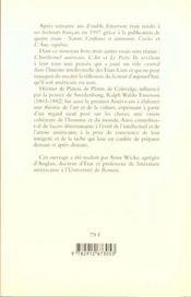 Essais ; L'Intellectuel Americain ; L'Art ; Le Poete - 4ème de couverture - Format classique