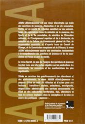 REVUE AGORA DEBATS JEUNESSES N.40 ; la démocratie associative ? perspectives historiques - 4ème de couverture - Format classique